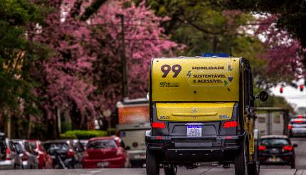 99 Realiza Teste Com Carros Elétricos em Curitiba