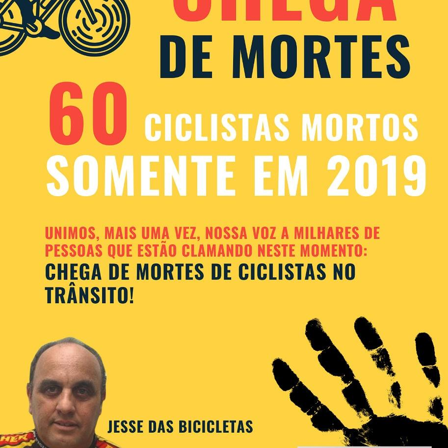 Ciclismo: Cresce Mortos no Trânsito em 2019