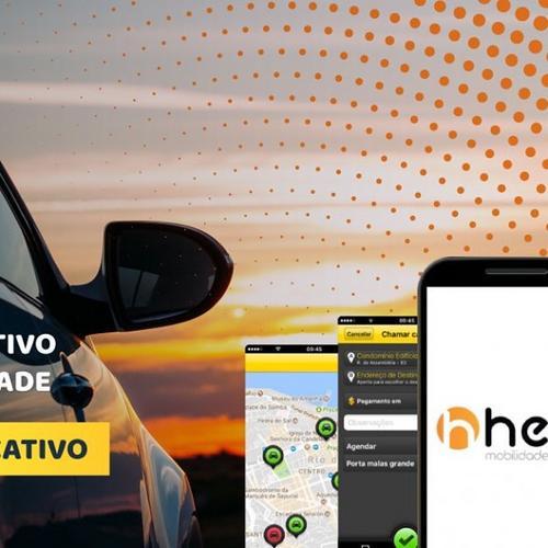 Helb o seu novo aplicativo de transporte